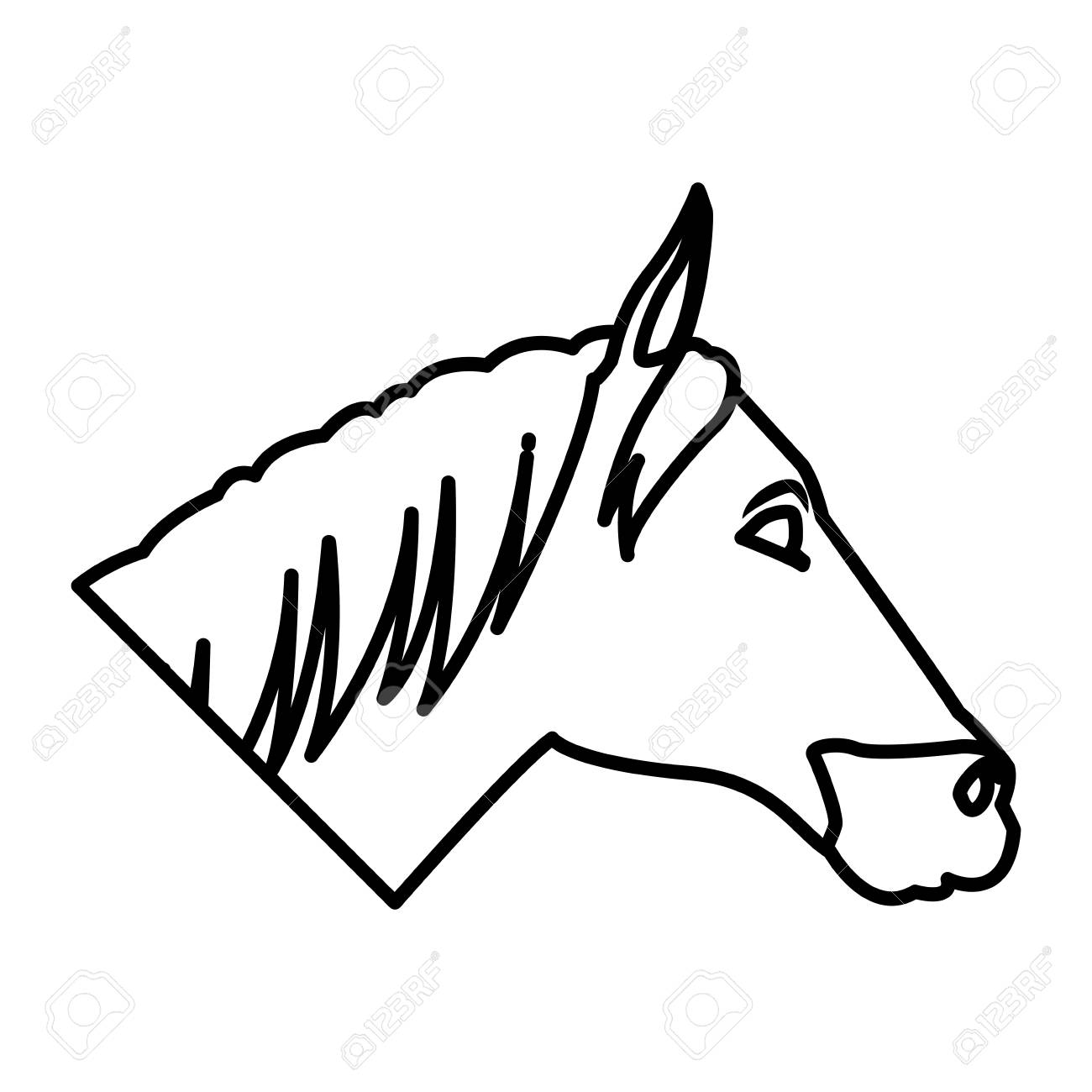 Horse Head Cartoon Icon Vector Illustration Graphic Design Royalty Free Cliparts Vectors And Stock Illustration Image 94319928