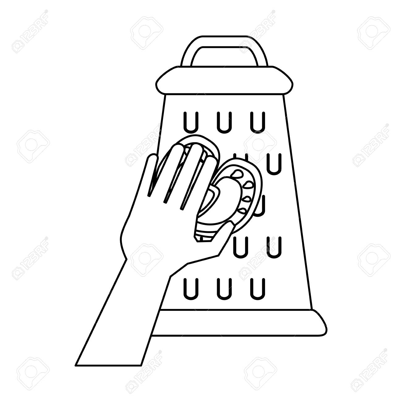 Hand On Kitchen Grater Icon Vector Illustration Graphic Design Stock Vector    94437257
