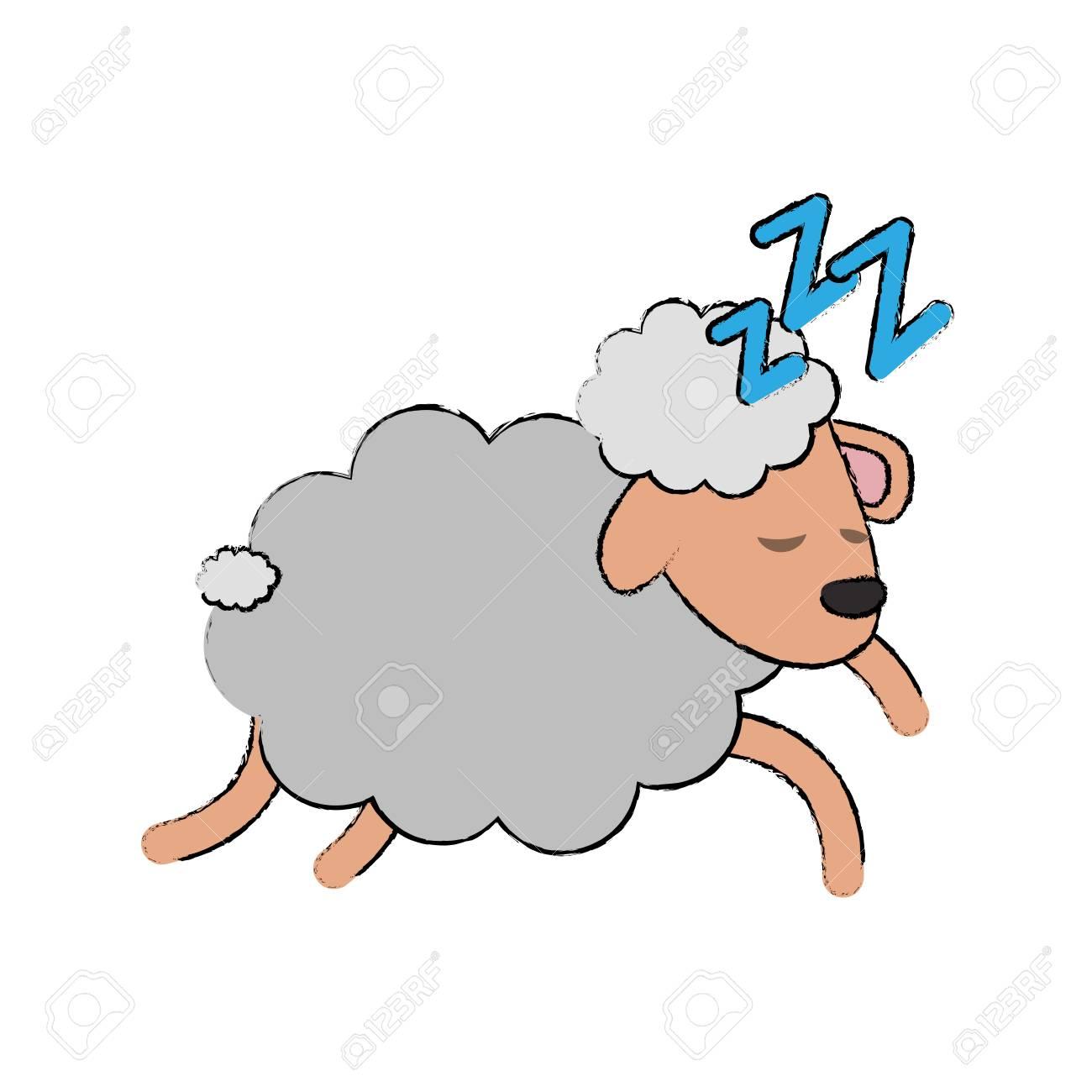 Sheep Sleeping Cartoon Icon Vector Illustration Graphic Design Royalty Free Cliparts Vectors And Stock Illustration Image 94440031