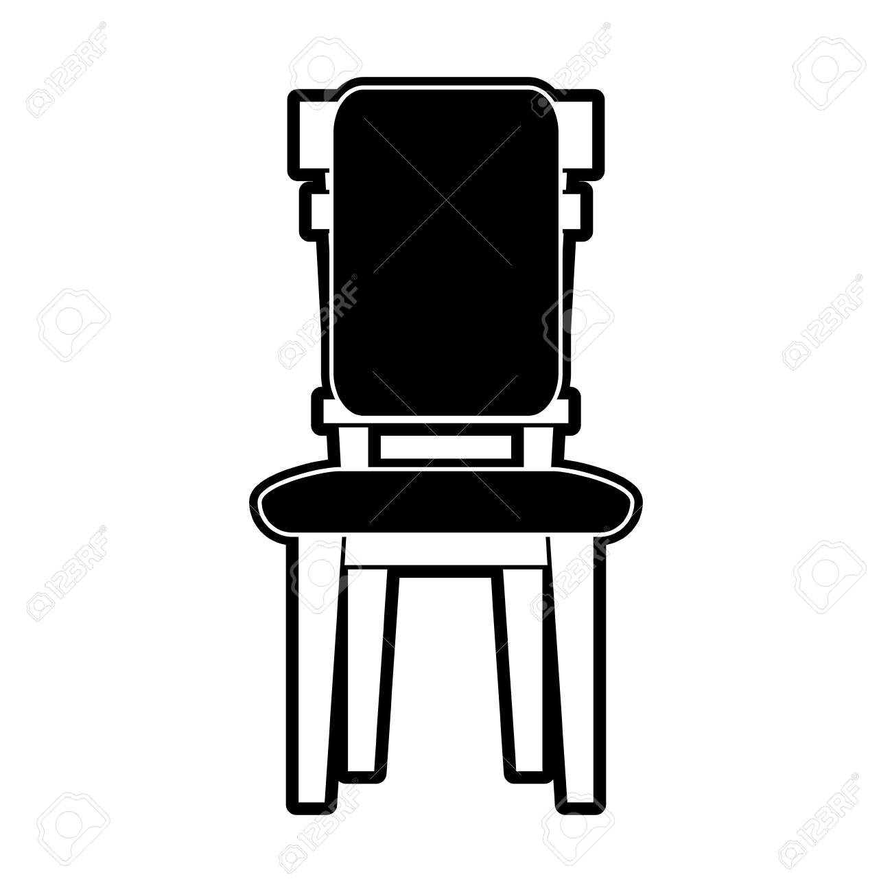 Chair And Desk Dining Room Icon Vector Illustration Graphic Design ...