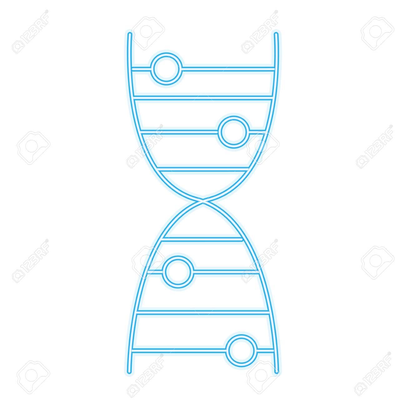 Human Dna Symbol Line Icon Vector Illustration Graphic Royalty Free