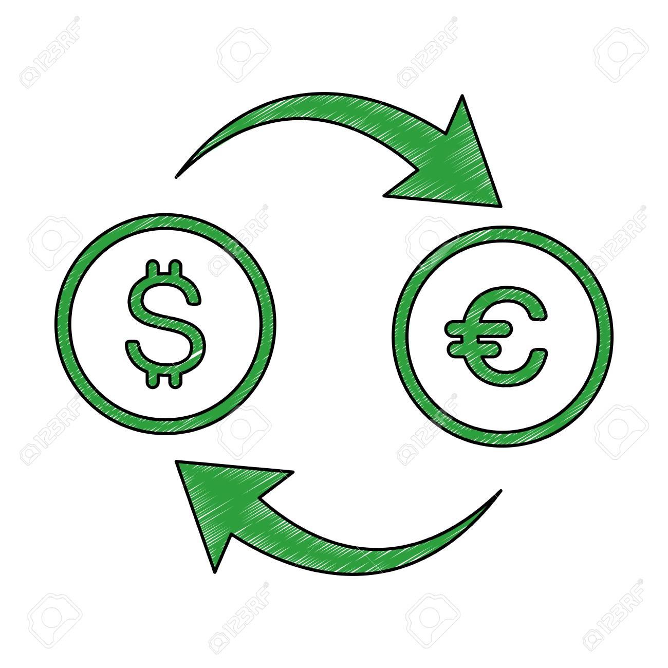 Currency Exchange Symbol Icon Vector Illustration Graphic Design