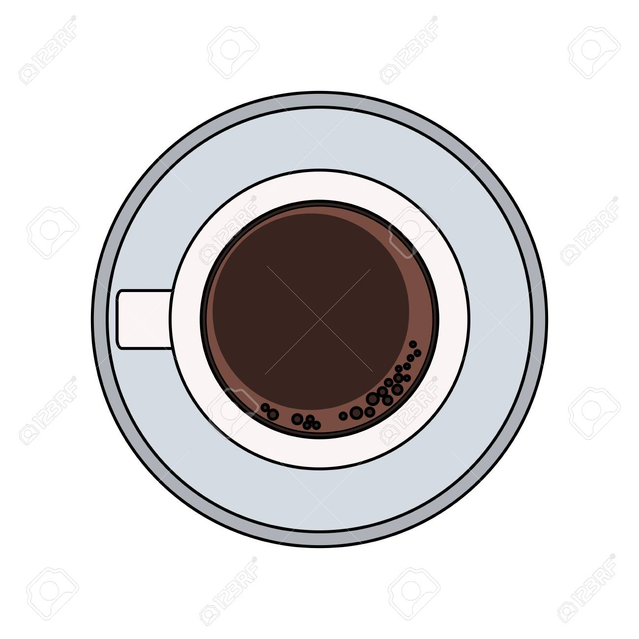 Topview Illustration Design Coffee Mug Vector Graphic X0wOP8nk