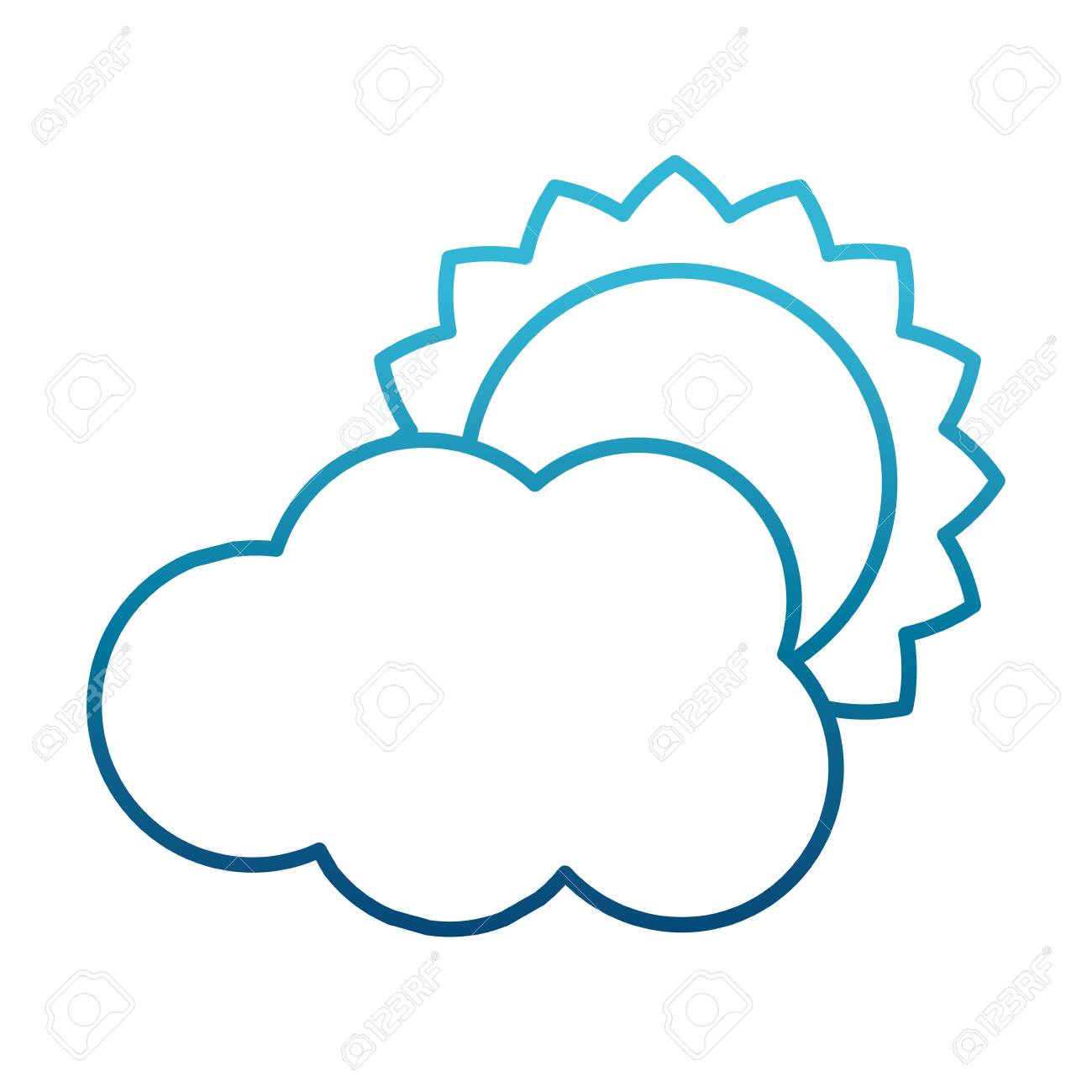 sun and cloud weather symbol icon vector illustration graphic rh 123rf com cloud graphic vector cloud graphic design