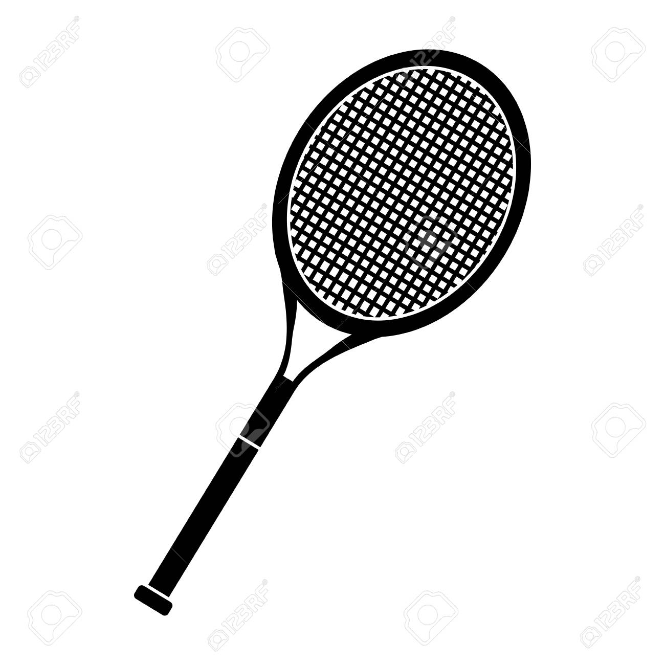 Tennis Racket Icon Vector Illustration Graphic Design Royalty Free