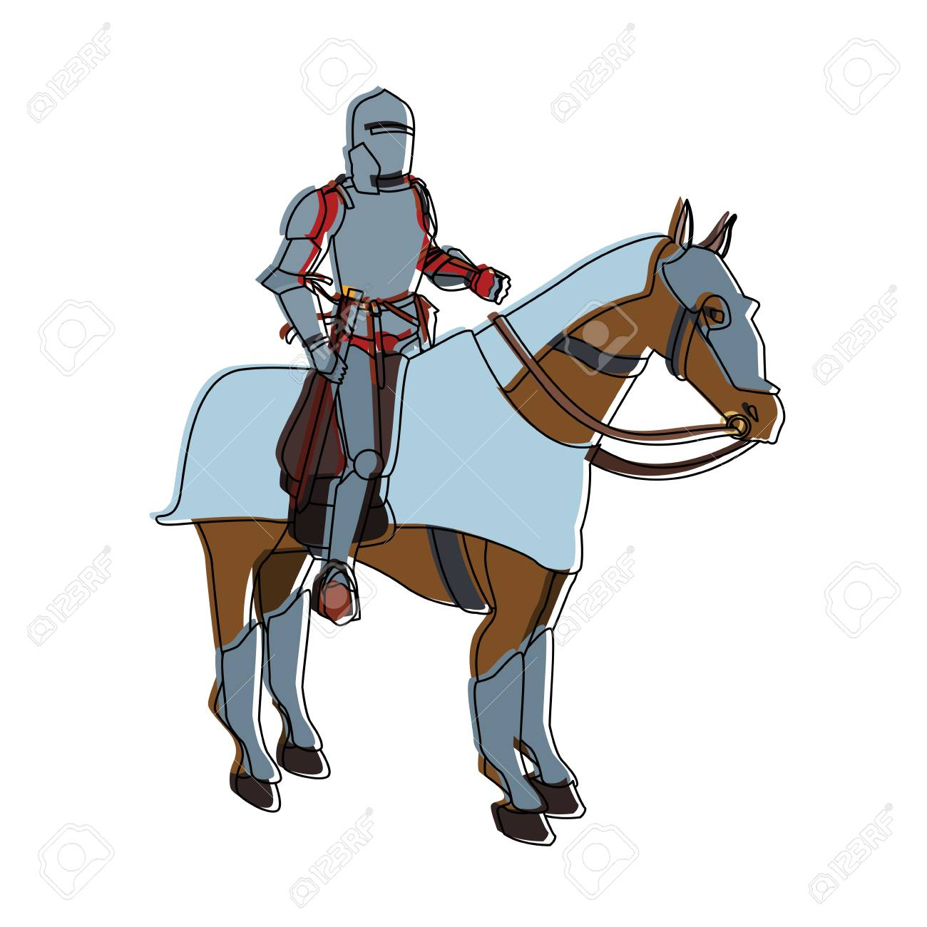 Medieval Warrior On Horse Vector Illustration Graphic Design Royalty Free Cliparts Vectors And Stock Illustration Image 97050114