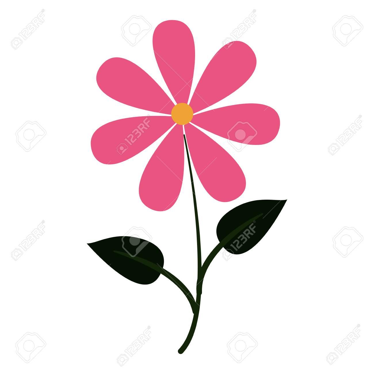 Beautiful flower cartoon vector illustration graphic design