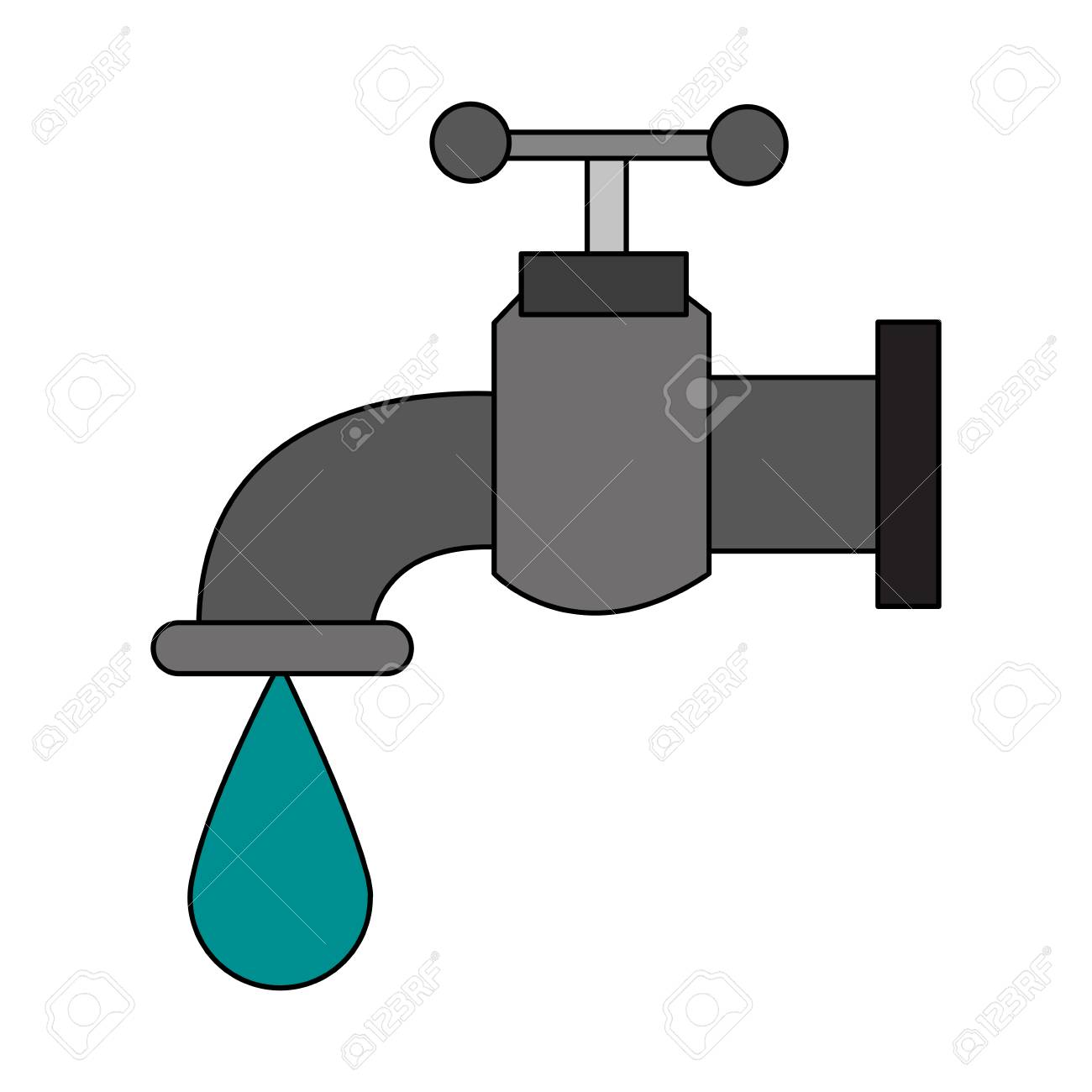 Water Faucet Symbol Vector Illustration Graphic Design Royalty Free ...