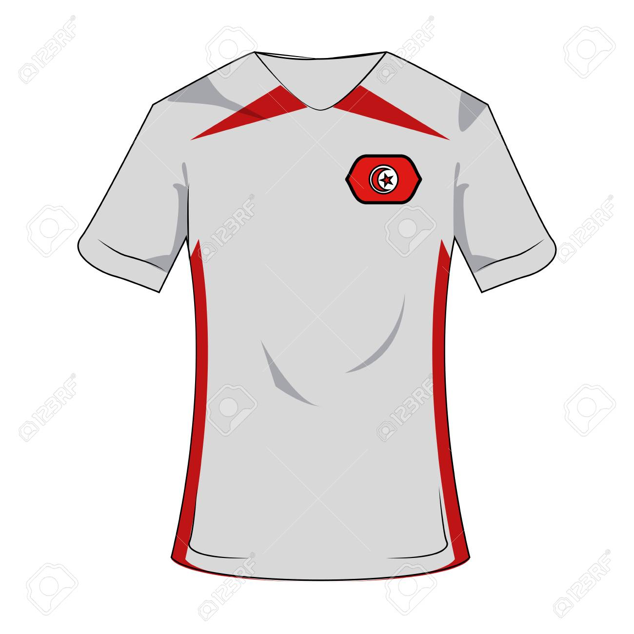 new product 0e73d ba7f8 Tunisia national tshirt soccer sport wear vector illustration..