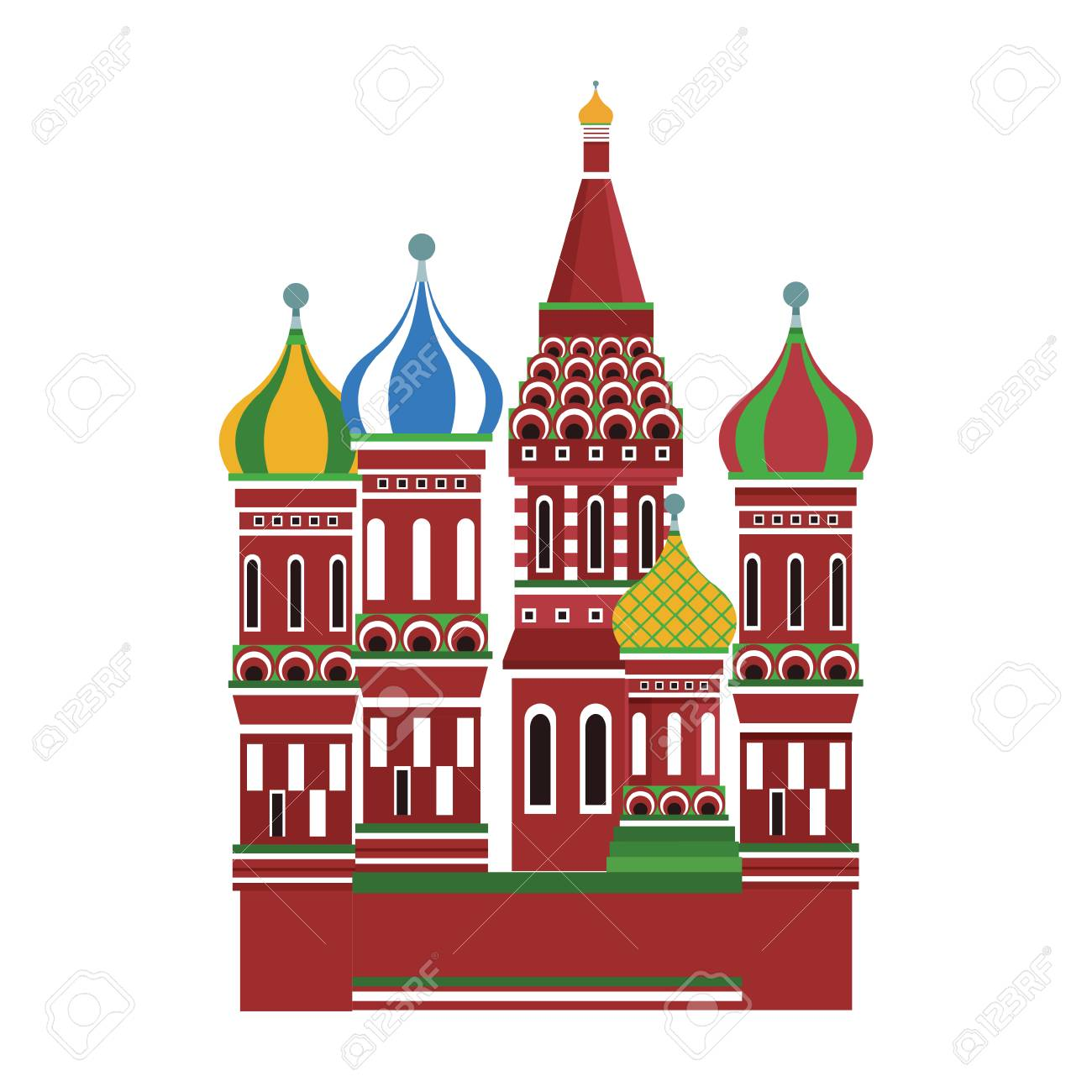 St Basil Cathedral Vector Illustration Graphic Design Royalty Free