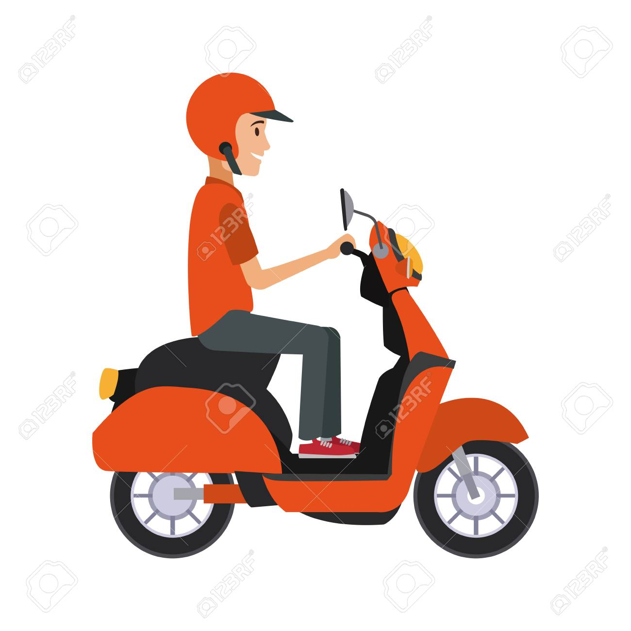 man driving scooter vector illustration graphic design royalty free cliparts vectors and stock illustration image 100464712 man driving scooter vector illustration graphic design