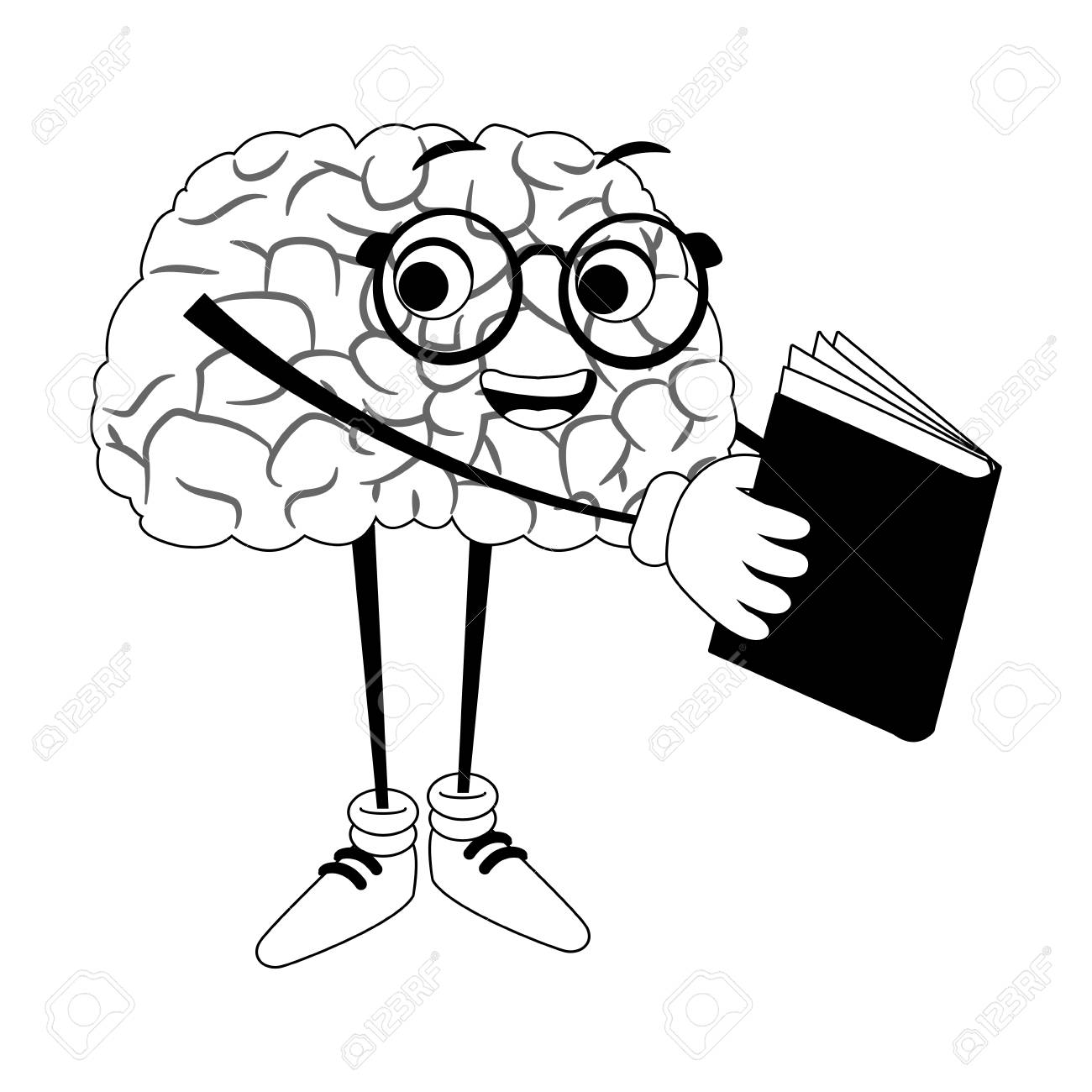 funny brain cartoon reading a book vector illustration graphic royalty free cliparts vectors and stock illustration image 101268741 funny brain cartoon reading a book vector illustration graphic