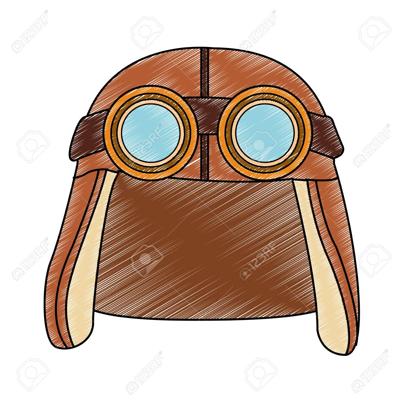 8860baeedd Vintage aviation hat with glasses vector illustration graphic design Stock  Vector - 102905271