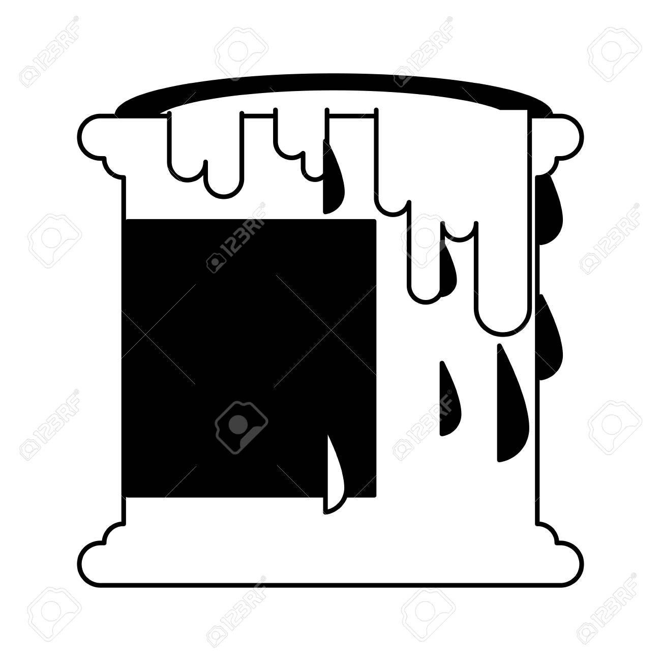 Paint Bucket Isolated Vector Illustration Graphic Design Royalty Free Cliparts Vectors And Stock Illustration Image 112049305