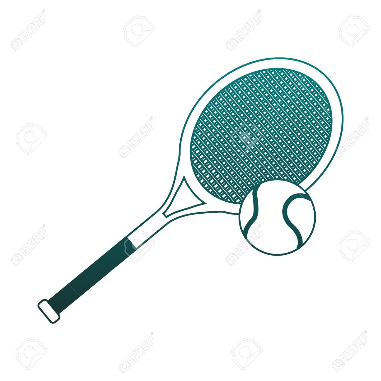 Tennis Racket Equipment Vector Illustration Graphic Design Royalty