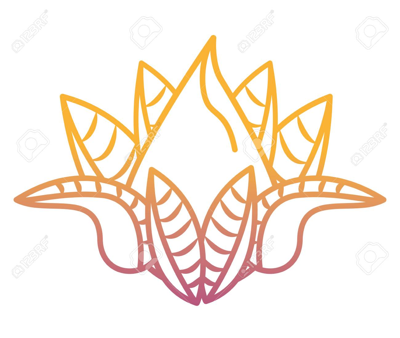 Lotus Flower Cartoon Vector Illustration Graphic Design Royalty Free