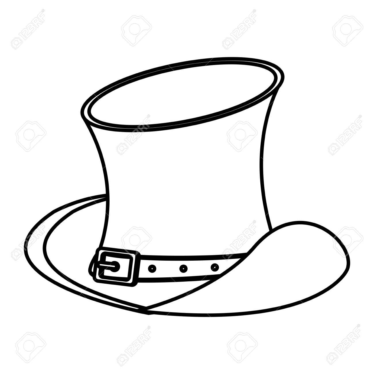 14403f2d Irish vintage hat in black and white vector illustration graphic design Stock  Vector - 109714535