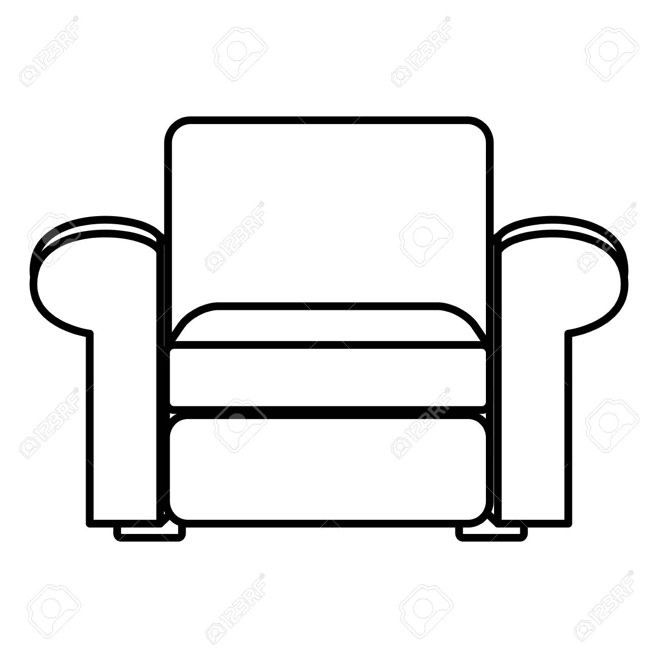 Sofa Funiture Isolated Vector Illustration Graphic Design Royalty