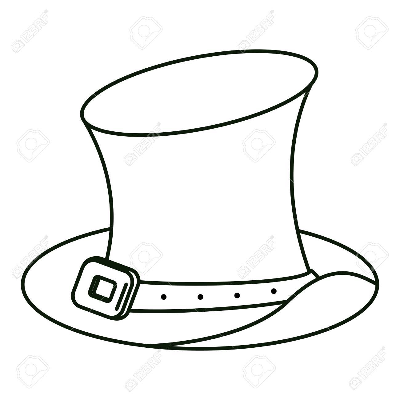 cae2df622d1 Irish elf hat in black and white vector illustration graphic design Stock  Vector - 109640164