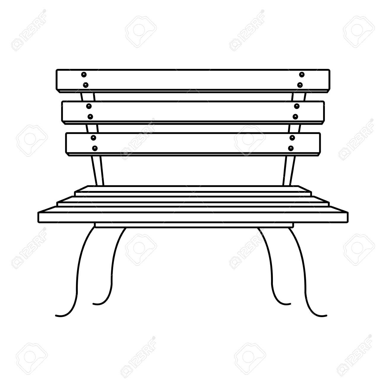 Amazing Park Bench Cartoon Vector Illustration Graphic Design Squirreltailoven Fun Painted Chair Ideas Images Squirreltailovenorg