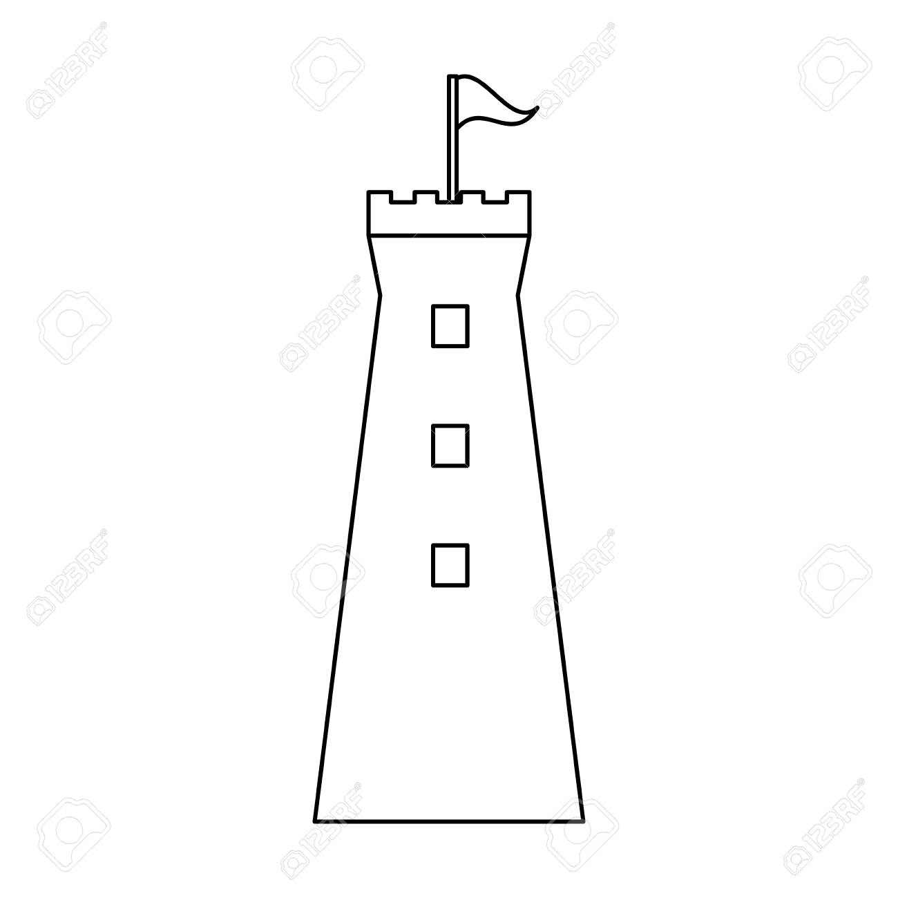 112962228 medieval castle tower isolated vector illustration graphic design medieval castle tower isolated vector illustration graphic design