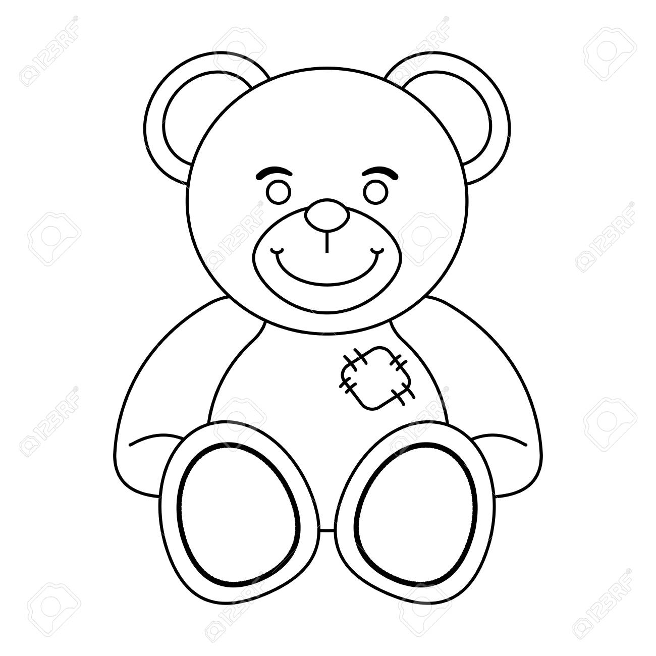 Teddy Bear Toy Isolated Vector Illustration Graphic Design Royalty