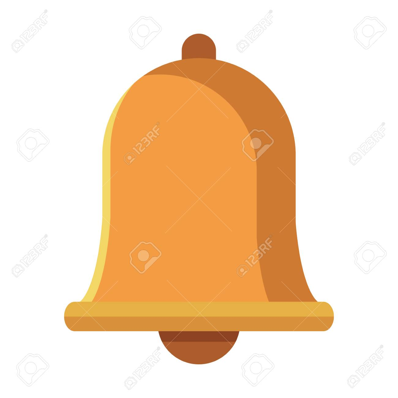 notification bell icon colorful in white background - 125999472