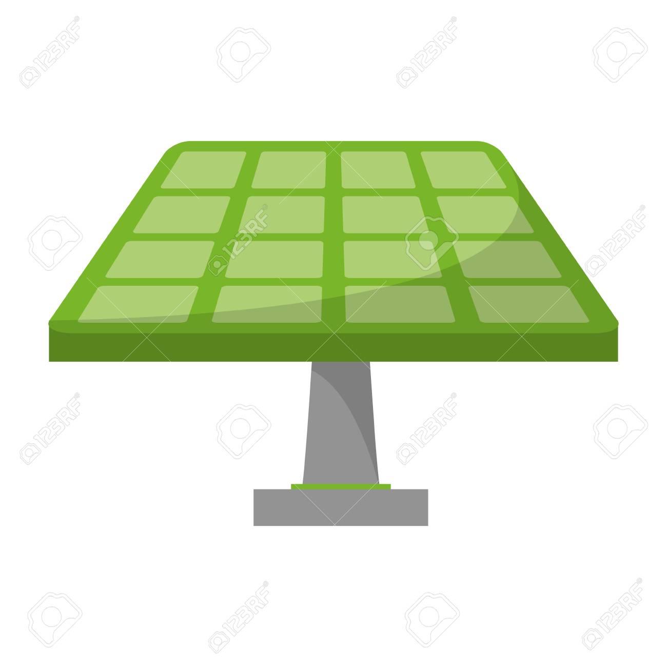 Solar panel green energy vector illustration graphic design