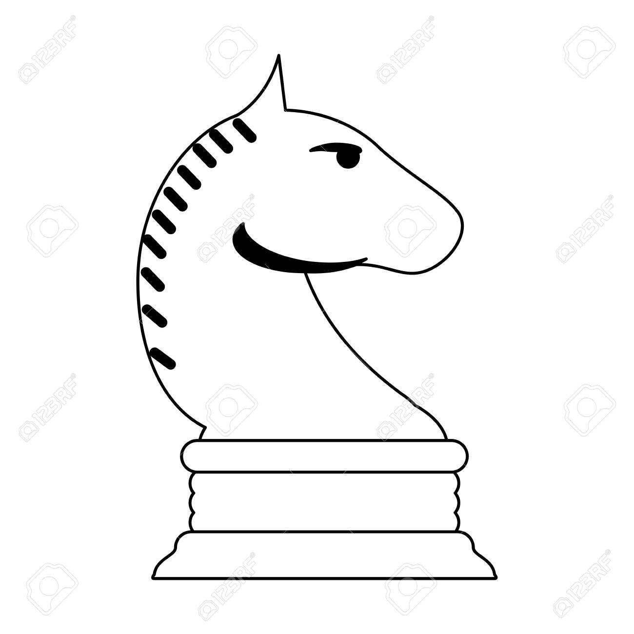 Chess Horse Game Symbol Vector Illustration Graphic Design Royalty Free Cliparts Vectors And Stock Illustration Image 116690802