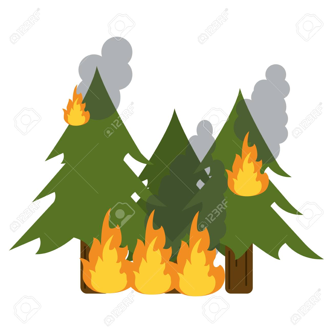 Trees Forest In Fire Cartoon Vector Illustration Graphic Design Royalty Free Cliparts Vectors And Stock Illustration Image 125094156 Gograph has the graphic or image that you need for as little as 5 dollars. trees forest in fire cartoon vector illustration graphic design