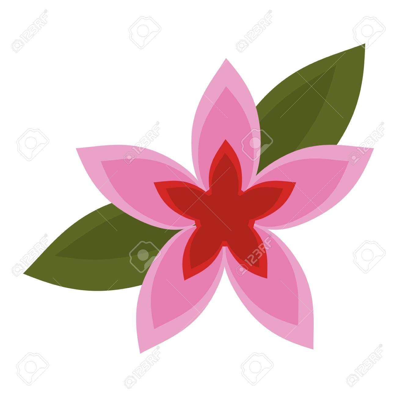 Beautiful flower cartoon isolated vector illustration graphic..