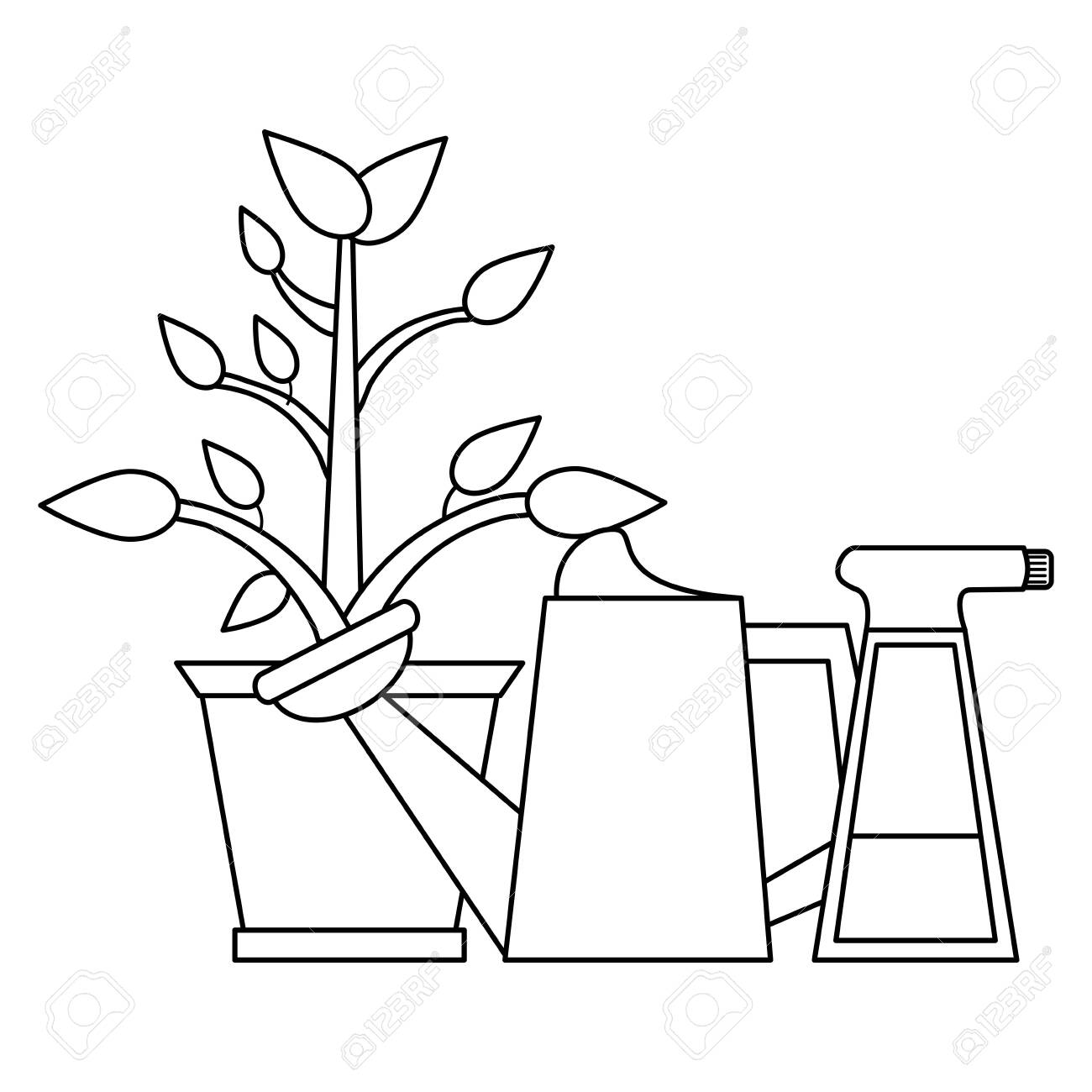 Pretty watering can clipart 3 - WikiClipArt