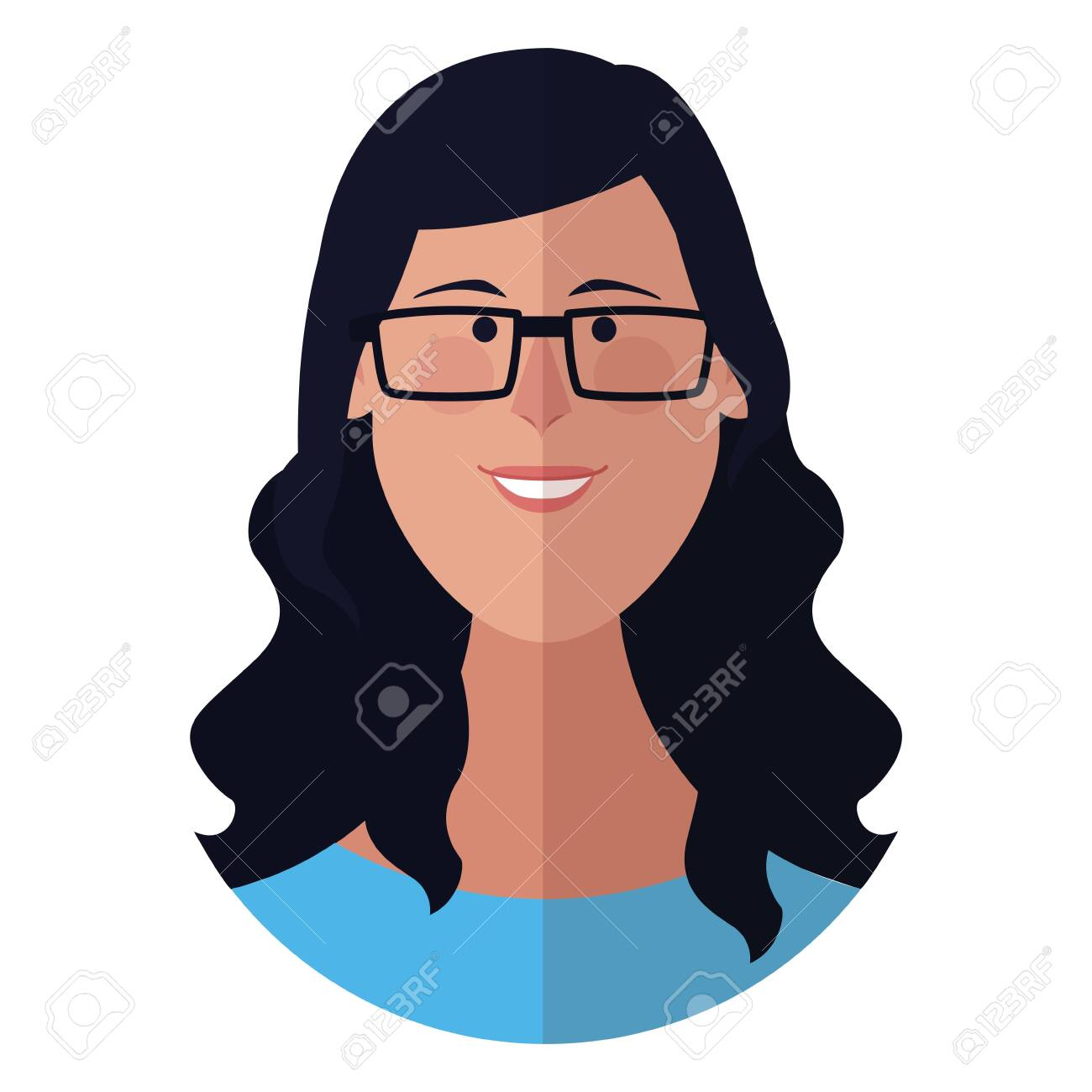 Woman With Glasses Face Cartoon Profile Vector Illustration Graphic Royalty Free Cliparts Vectors And Stock Illustration Image 119849068