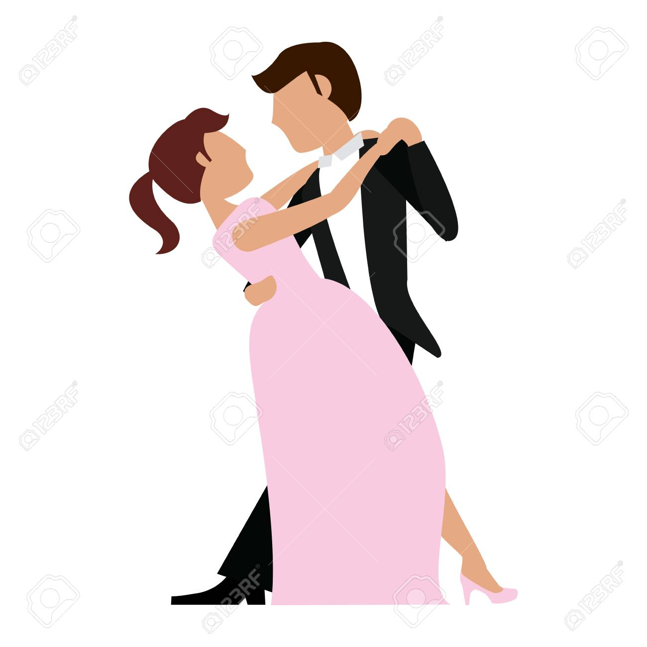 Wedding Couple Dancing Cartoon Isolated Vector Illustration Graphic Royalty Free Cliparts Vectors And Stock Illustration Image 121014010