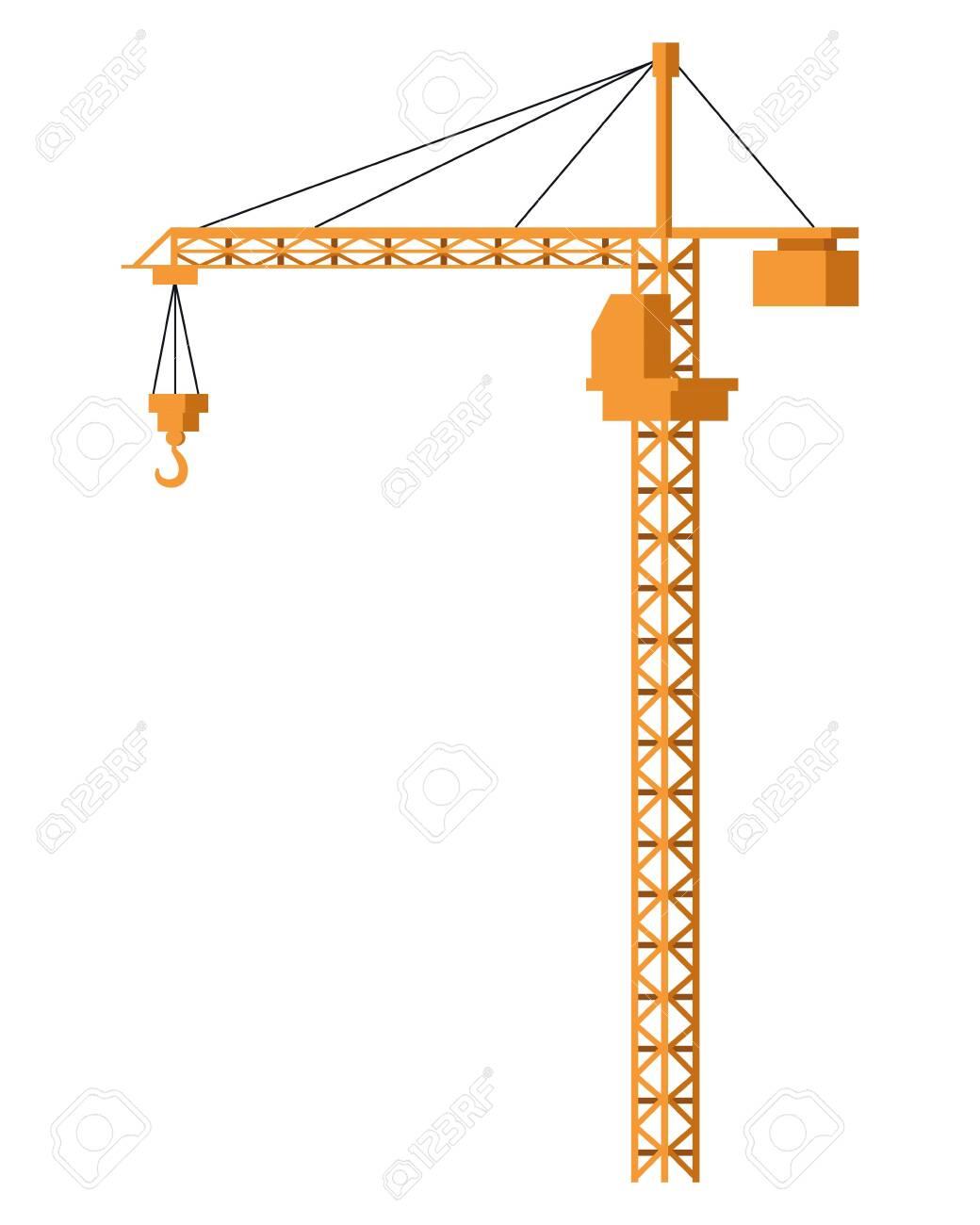 Cronstruction crane machinery isolated vector illustration graphic design - 122409992