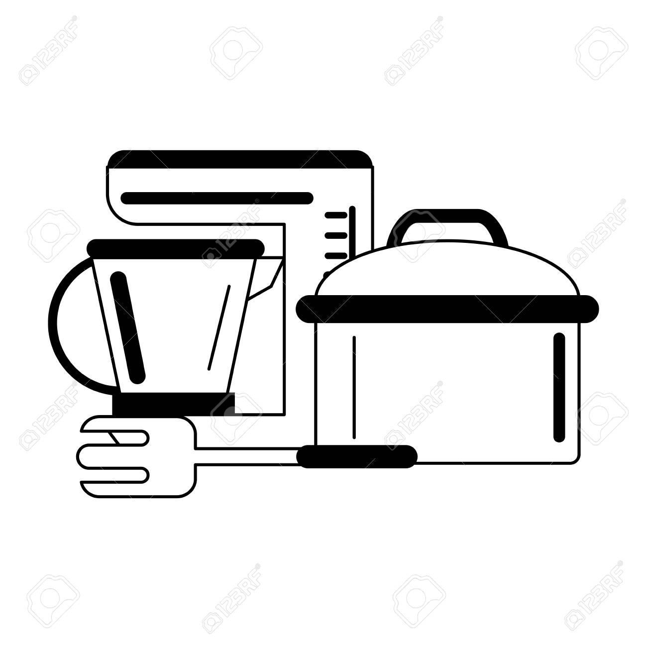 Kitchen Utensils And Supplies Cartoons Vector Illustration Graphic
