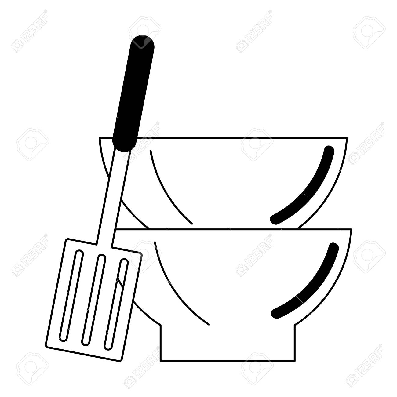 Kitchen Utensils And Supplies Cartoons Vector Illustration Graphic
