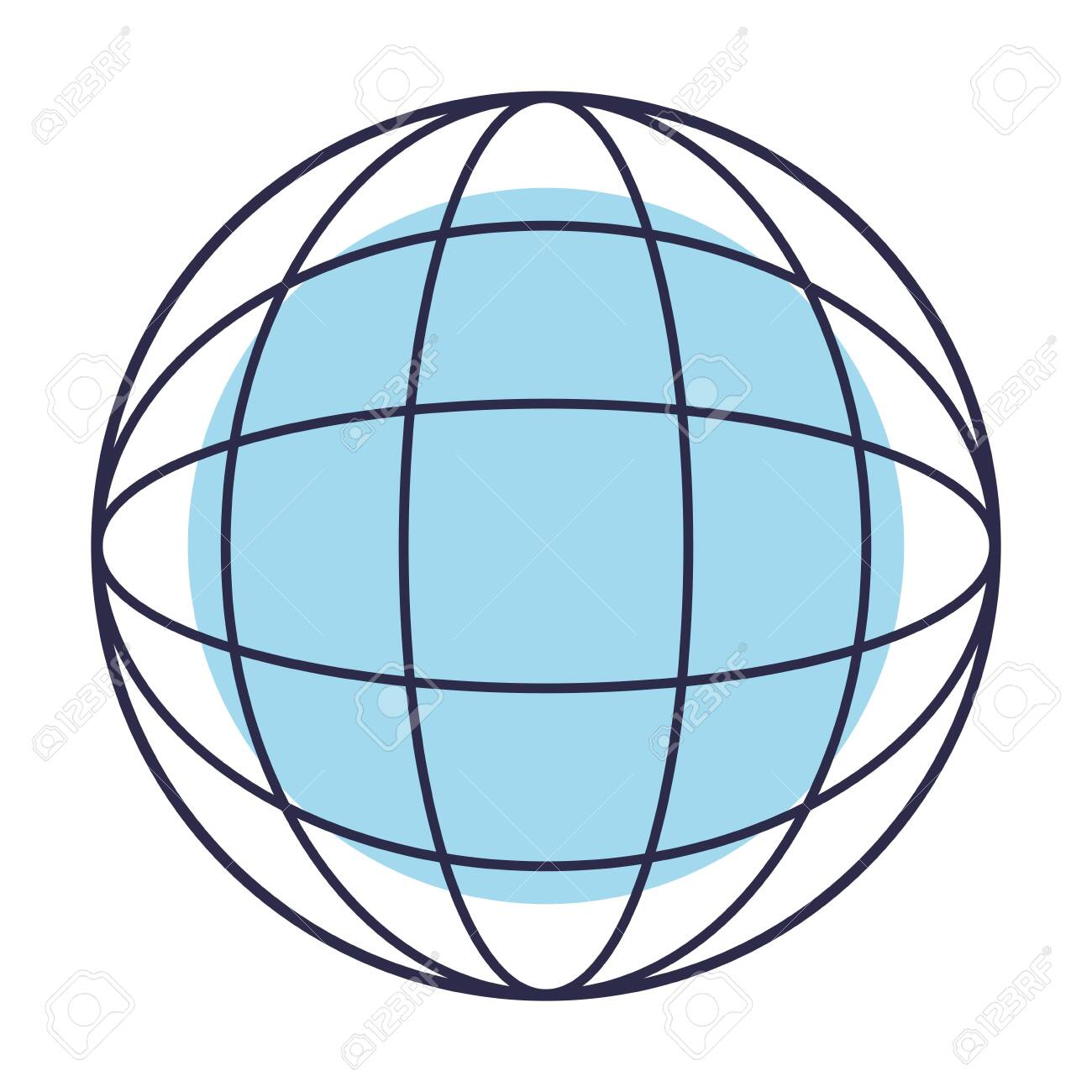 abstract figure of a globe base on lines and a core vector illustration graphic design - 125464428