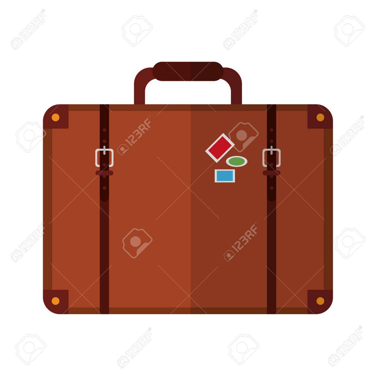 Travel suitcase symbol isolated vector illustration graphic design - 125933373
