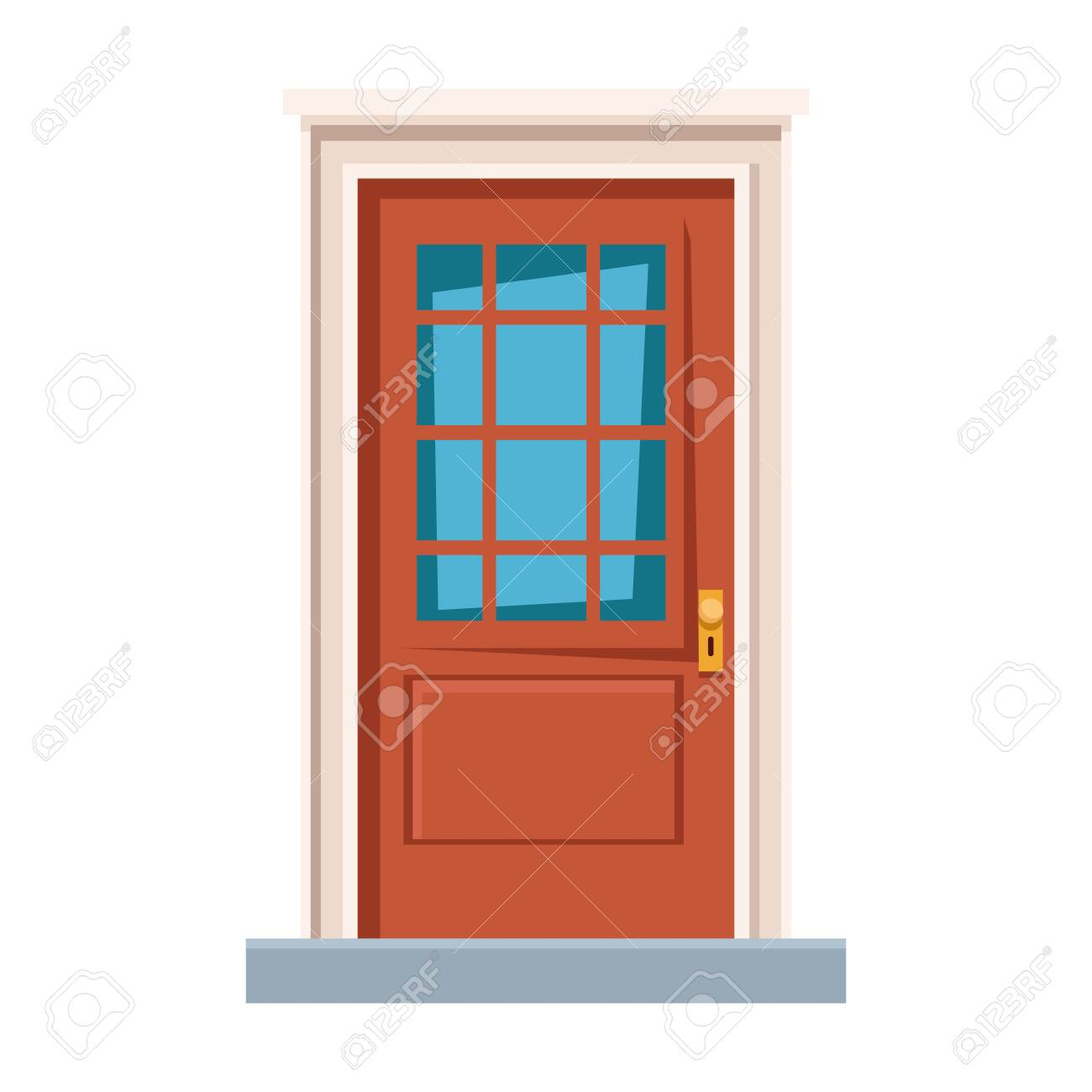 Front Door House Entrace Icon Cartoon Vector Illustration Graphic Royalty Free Cliparts Vectors And Stock Illustration Image 127173352
