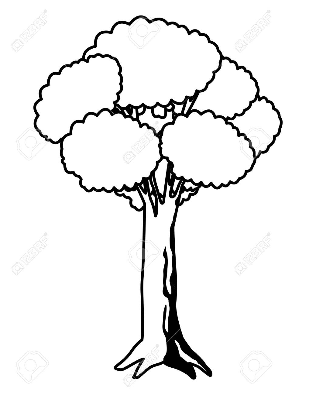 Leafy And Black And White Tree Icon With Purple Foliange Isolated Royalty Free Cliparts Vectors And Stock Illustration Image 127256706 Pngtree offers over 9 black and white tree png and vector images, as well as transparant. leafy and black and white tree icon with purple foliange isolated