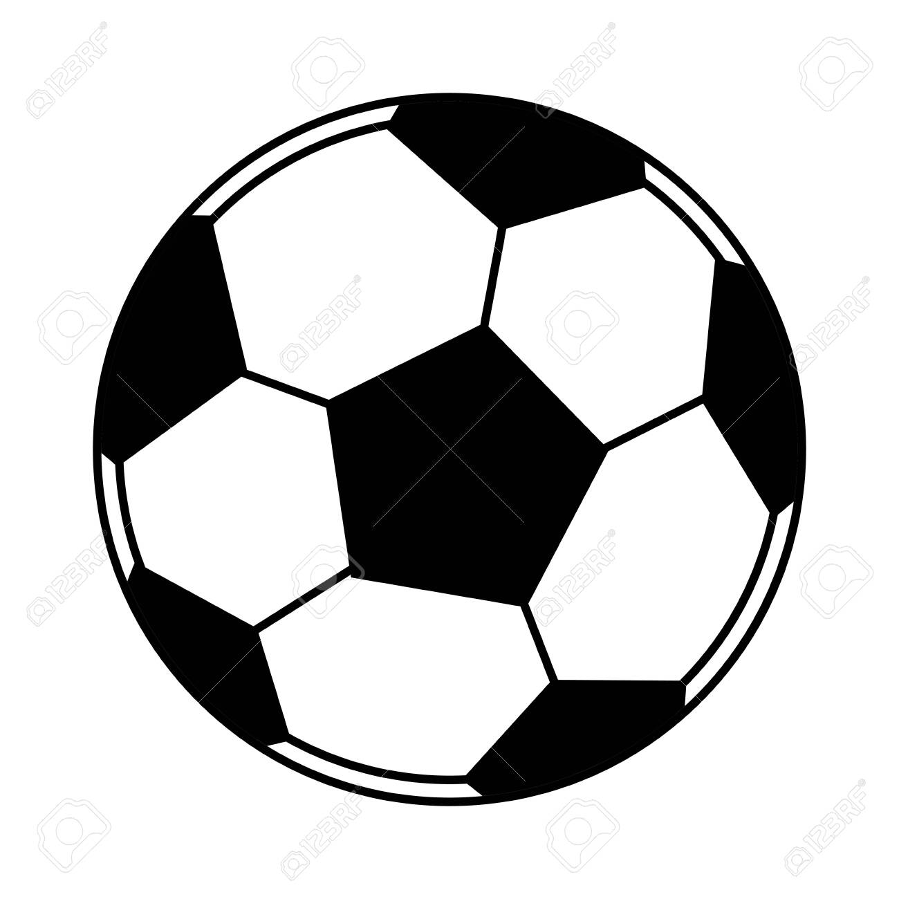 soccer ball icon cartoon isolated black and white vector illustration..  royalty free cliparts, vectors, and stock illustration. image 128999243.  123rf