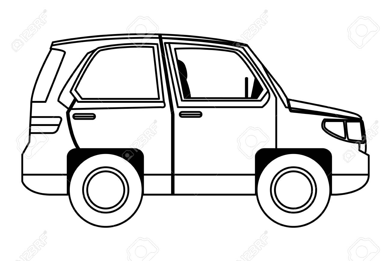 Suv Car Vehicle Sideview Cartoon Vector Illustration Graphic Royalty Free Cliparts Vectors And Stock Illustration Image 129142421