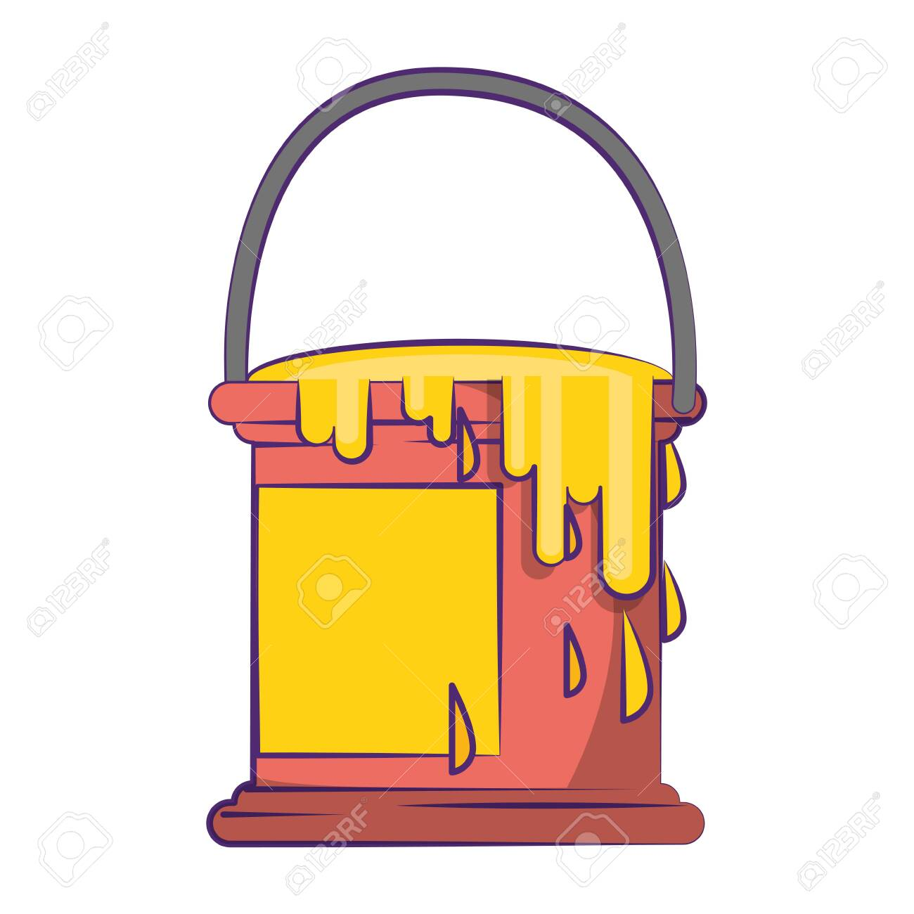 Paint Bucket Ith Splash Symbol Isolated Illustration Editable Royalty Free Cliparts Vectors And Stock Illustration Image 129260769