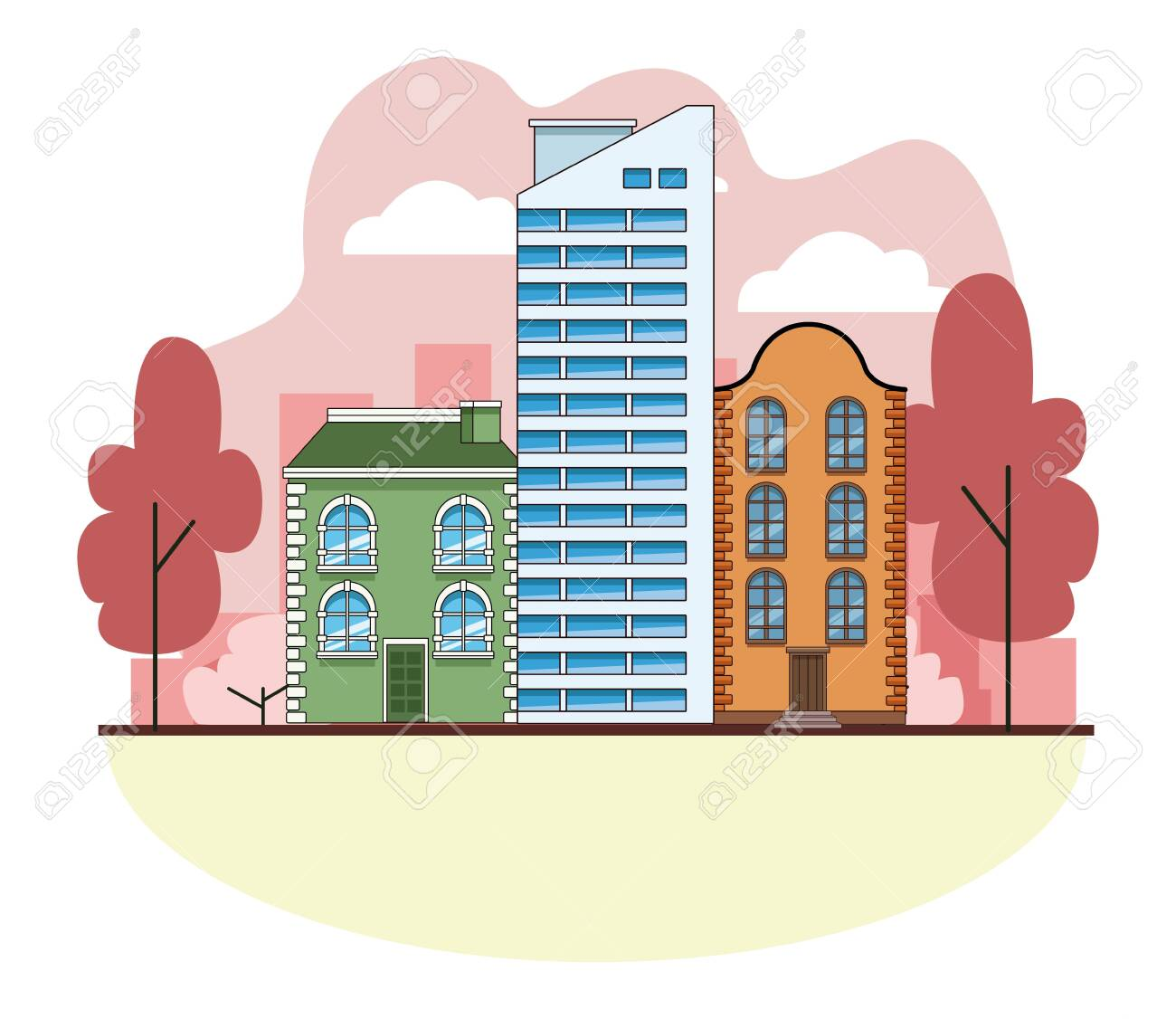 Urban Buildings And City Architecture, Modern Classics And ...
