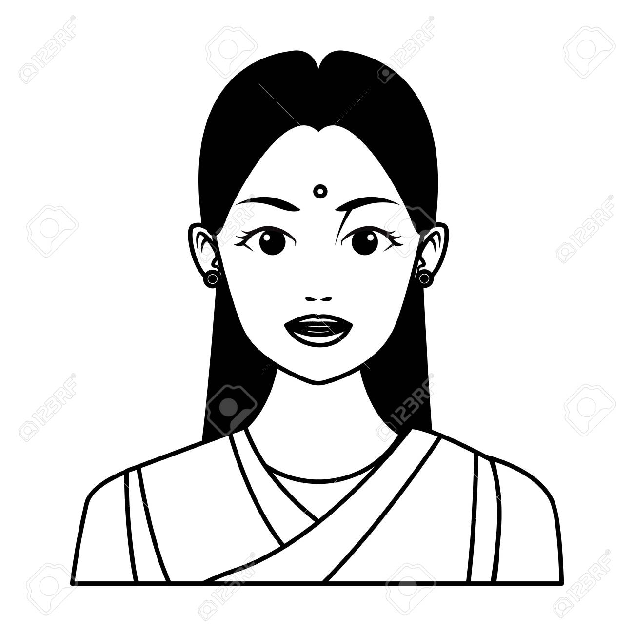 28+ Indian Woman Cartoon Drawing Background