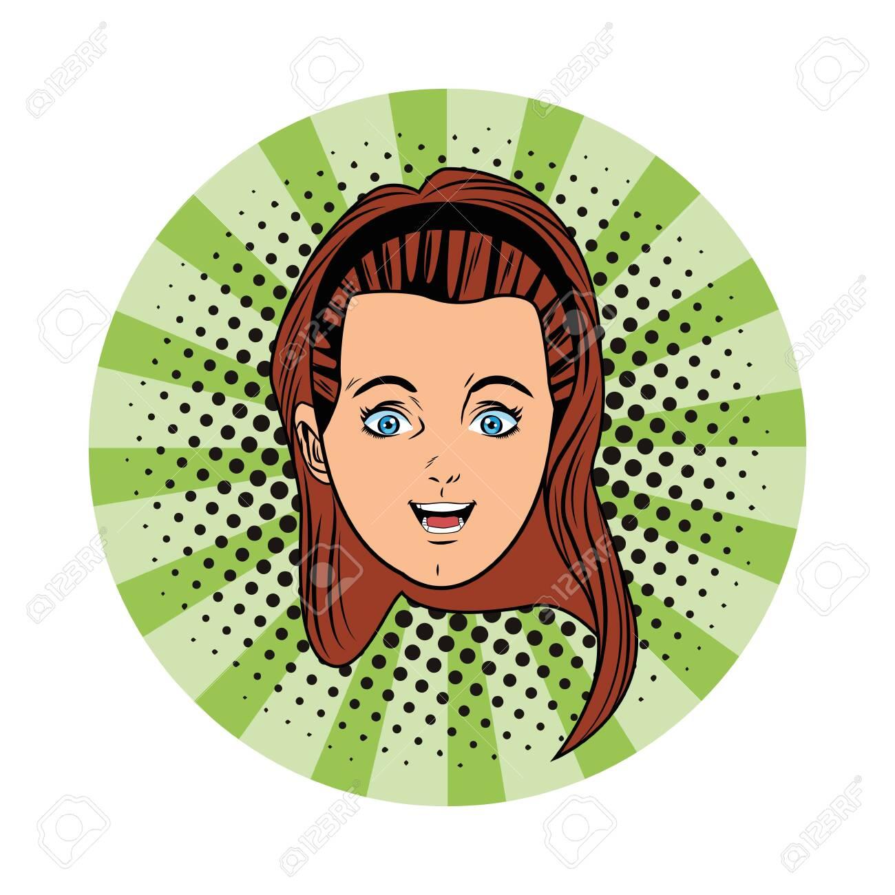 Young Girl Face Wearing Bandana Avatar Cartoon Character Portrait