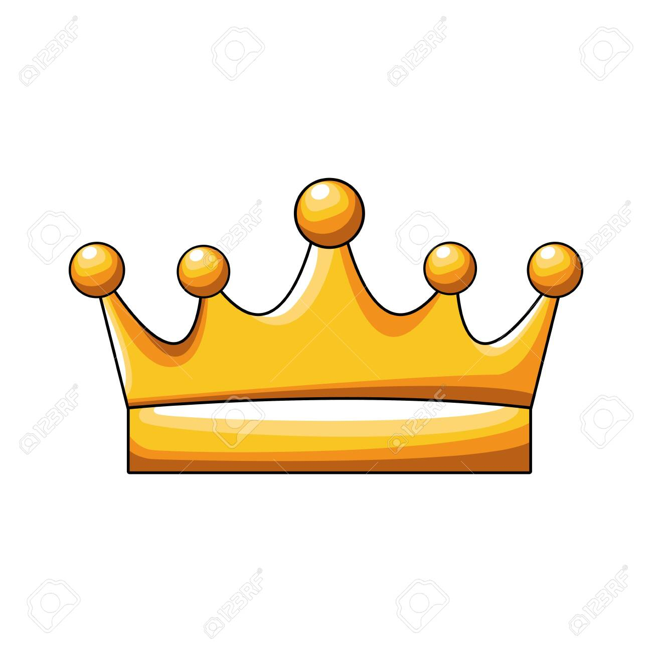 queen crown icon over white background, colorful design, vector illustration - 135388119