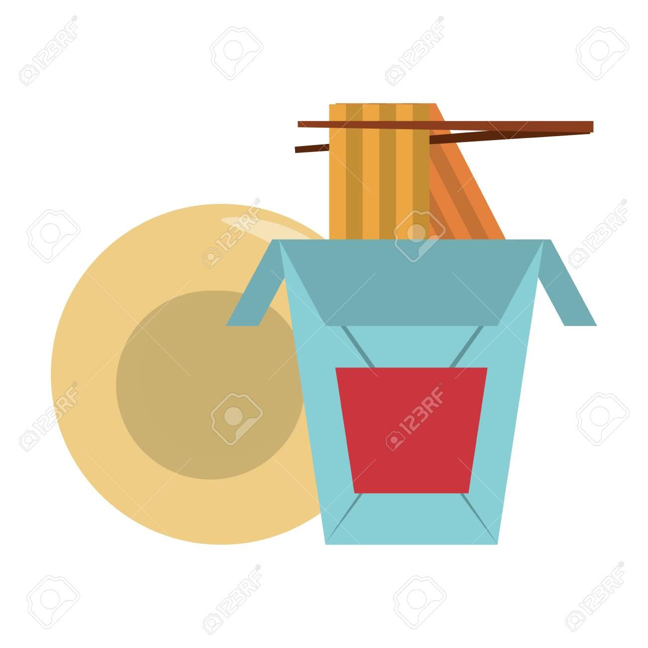 Restaurant Food And Cuisine Chinese Food With Chopstick And Plate Icon Cartoons Vector Illustration Graphic Design Ilustraciones Vectoriales Clip Art Vectorizado Libre De Derechos Image 135902477