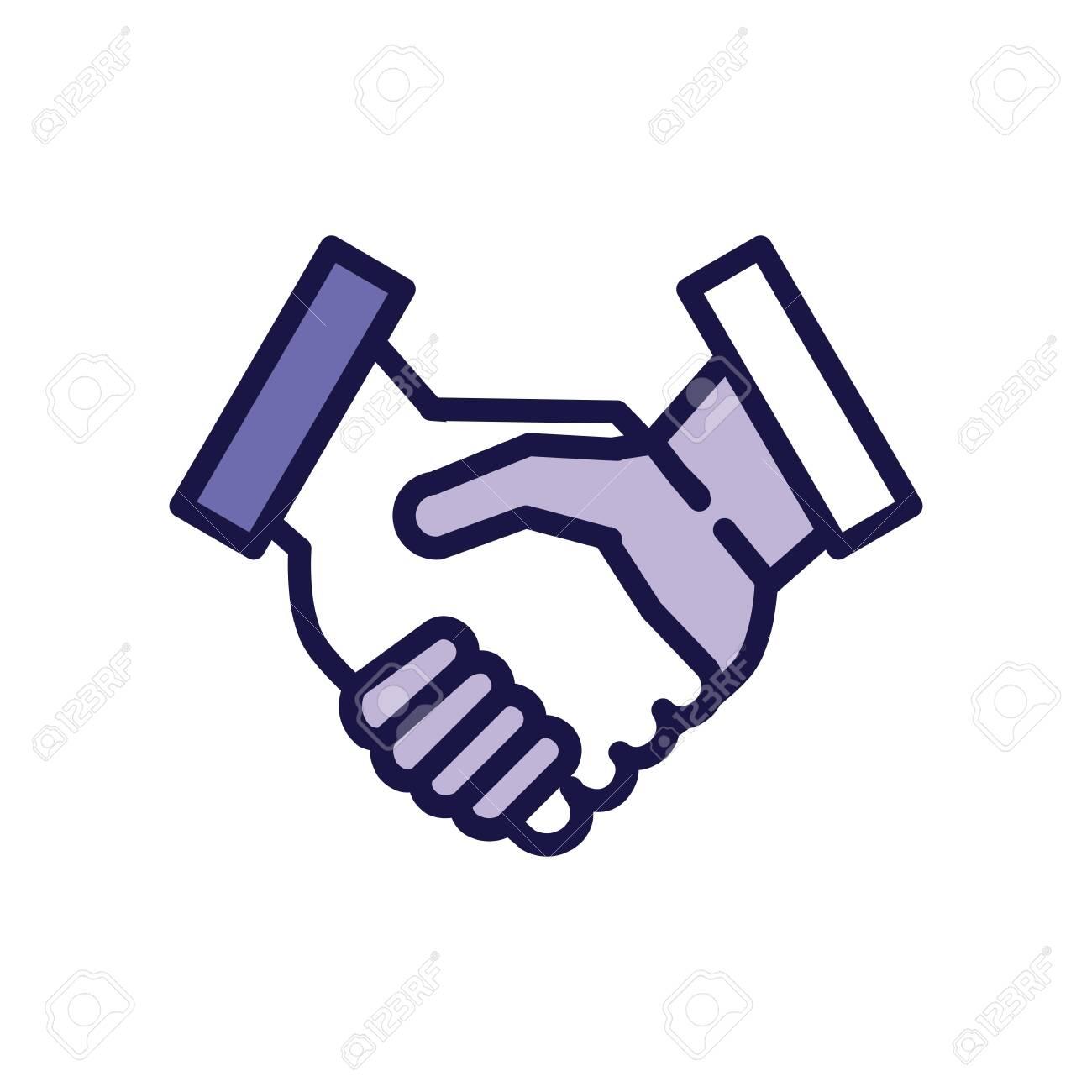 handshake greeting line style icon vector illustration design - 149762837